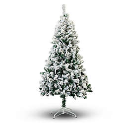 Perfect Holiday Flocked Snow Artificial Christmas Tree