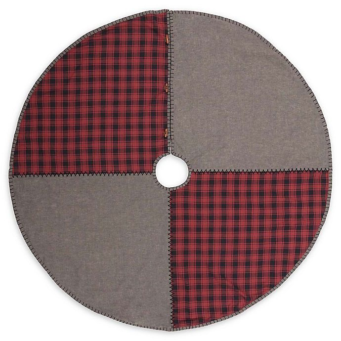 Alternate image 1 for VHC Brands 48-Inch Andes Christmas Tree Skirt in Grey/Red