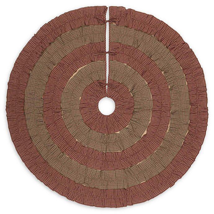 Alternate image 1 for VHC Brands Sequoia Christmas Tree Skirt in Burgundy