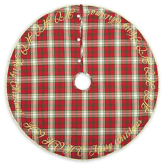 Alternate image 1 for VHC Brands HO HO Holiday 48-Inch Christmas Tree Skirt in Red/Cream