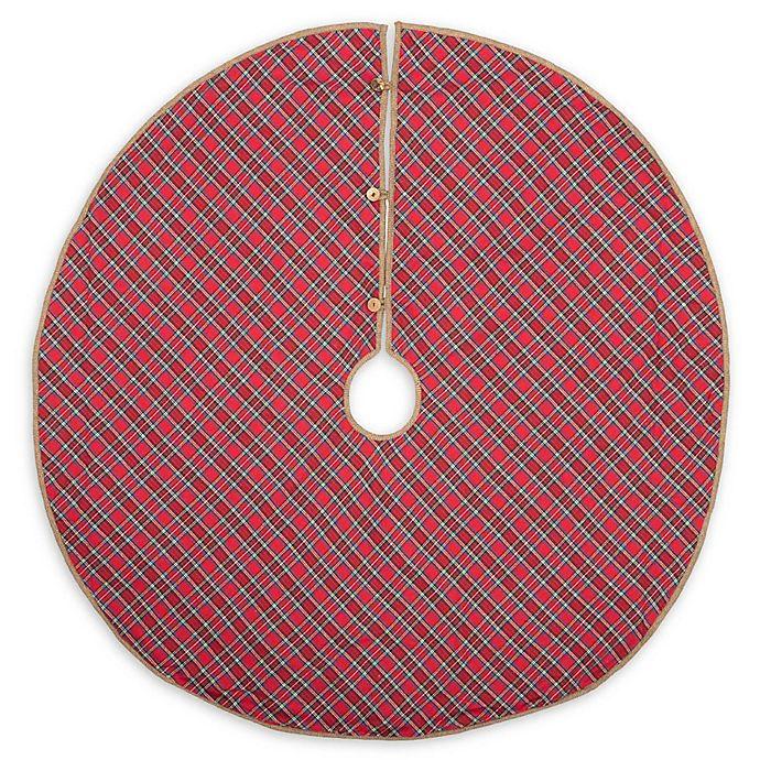 Alternate image 1 for VHC Brands Gavin 48-Inch Christmas Tree Skirt in Red/Blue