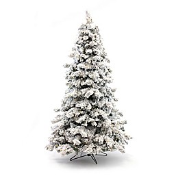 Perfect Holiday Pre-Lit Flocked Artificial Christmas Tree