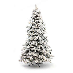 perfect holiday pre lit flocked artificial christmas tree