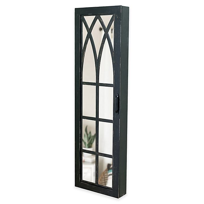 FirsTime Rustic Arch Jewelry Armoire in Black | Bed Bath ...