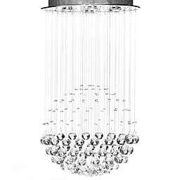 Gallery Crystal Rain Drop 6-Light Chandelier