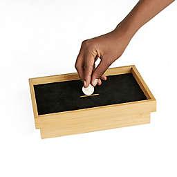Mind Reader Coin Storage Tray Box in Brown