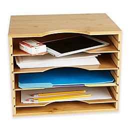 Mind Reader 4-Tier File Organizer in Brown