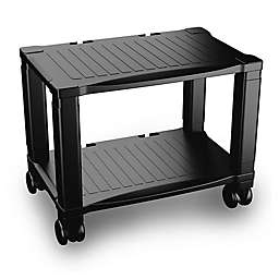 2-Tier Printer Stand in Black
