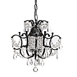 Gallery Crystal and Wrought Iron 1-Light Chandelier