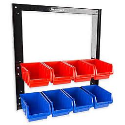 8-Bin Storage Rack in Red/Blue