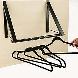 Mind Reader Over the Door Hanger Rack in Black