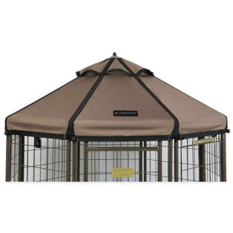 Advantek 5 Foot Gazebo Pet Canopy In Taupe Bed Bath Amp Beyond