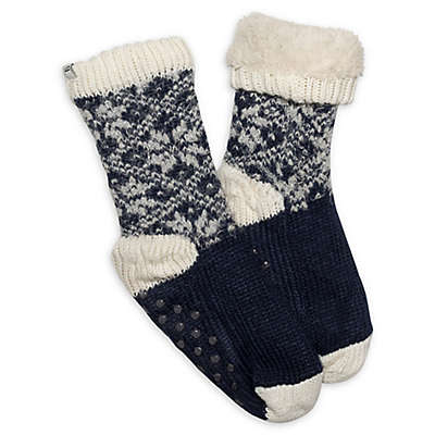 Ed Ellen Degeneres Women's Fairisle Socks with Grippers