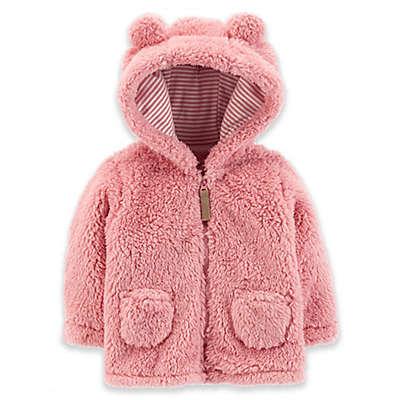 carter's® Zip-Up Sherpa Jacket in Pink