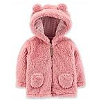 carter's® Newborn Zip-Up Sherpa Jacket in Pink