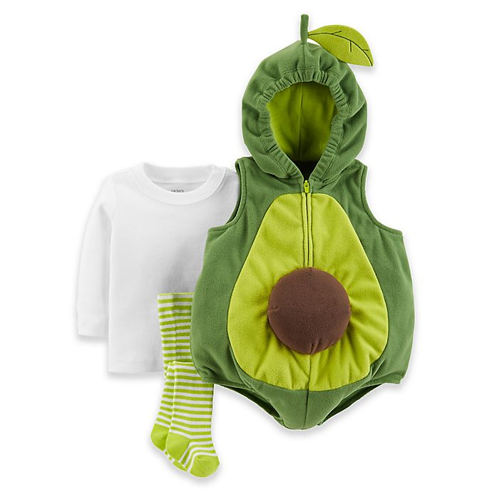 Alternate image 1 for carter's® 3-Piece Little Avocado Halloween Costume in Green