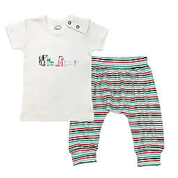 Finn + Emma® 2-Piece Dog Organic T-Shirt and Pants Set