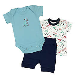 Finn + Emma® 3-Piece Organic T-Shirt, Bodysuit and Shorts Set