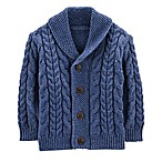 OshKosh B'gosh® Size 3-6M Cable Knit Cardigan in Navy