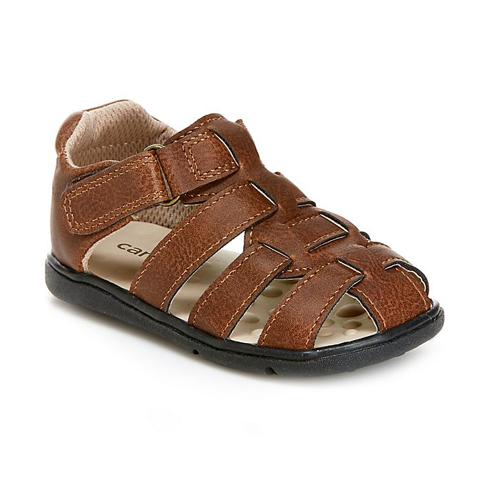8bcc9659204d ... Carter s® Everystep Sailor Fisherman Sandal in Brown. View a larger  version of this product image