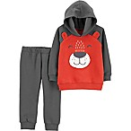 carter's® Size 6M 2-Piece Bear Hoodie and Jogger Pant Set in Charcoal Black