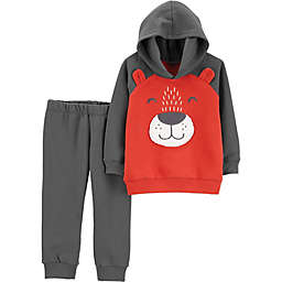 carter's® 2-Piece Bear Hoodie and Jogger Pant Set in Charcoal Black