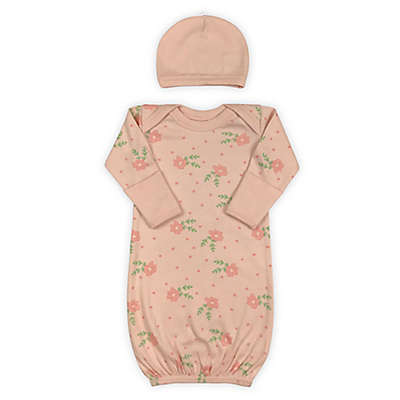 Finn by Finn & Emma® 2-Piece Roses Organic Cotton Gown and Hat Set