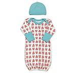 Finn + Emma® 2-Piece Watermelon Organic Cotton Gown and Hat Set