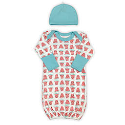 Finn + Emma® 2-Piece Watermelon Organic Cotton Gown and Hat Set