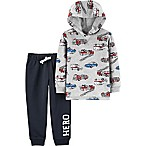 carter's® Size 6M 2-Piece Hero Vehicle Hoodie and Jogger Pant Set in Grey