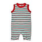 Finn + Emma® Size 0-3M Striped Organic Romper
