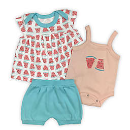 Finn by Finn & Emma® Watermelons 3-Piece Organic Cotton T-Shirt, Bodysuit and Shorts Set