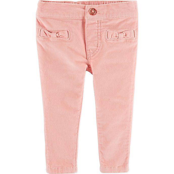 Alternate image 1 for OshKosh B'gosh® Bow Pocket Pull-On Pant in Pink