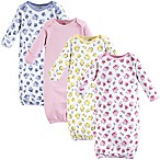 Luvable Friends® Size 0-6M 4-Pack Floral Gowns in Pink