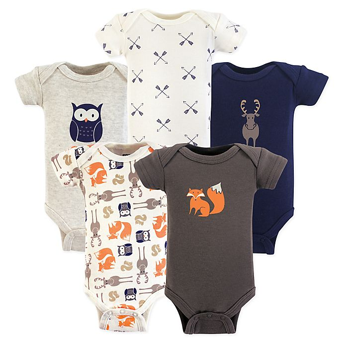 Alternate image 1 for Hudson Baby® Preemie 5-Pack Forest Bodysuits