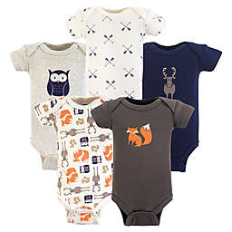 Hudson Baby® Preemie 5-Pack Forest Bodysuits