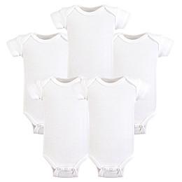 Hudson Baby® Preemie 5-Pack Bodysuits in White