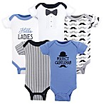 Hudson Baby® Preemie 5-Pack Perfect Gentleman Bodysuits