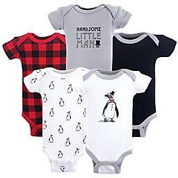 Hudson Baby® Preemie 5-Pack Penguin Bodysuits