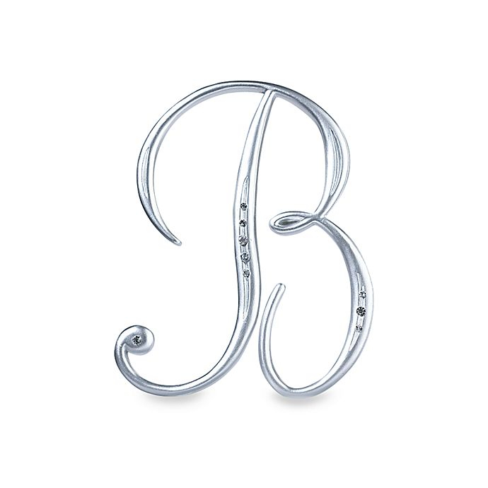 "Silver Letter B: Lillian Rose™ Silver Letter ""B"" Monogram With Rhinestones"
