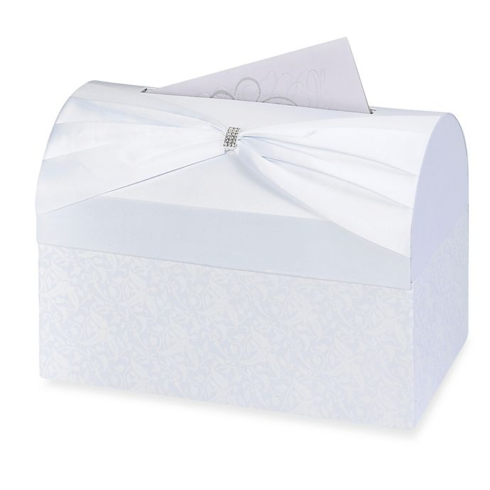 Alternate image 1 for Lillian Rose™ Card Box in White