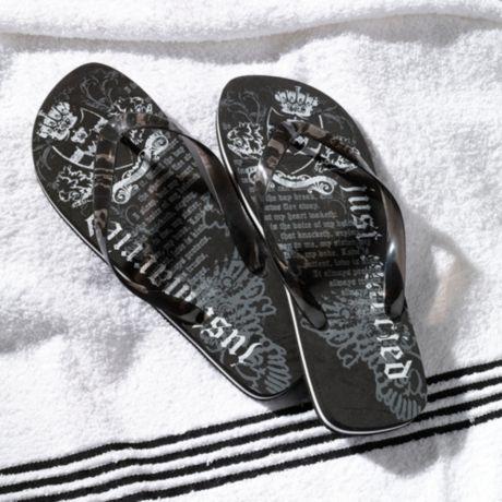 f0f73905e Lillian Rose™ Men s Just Married Flip Flops