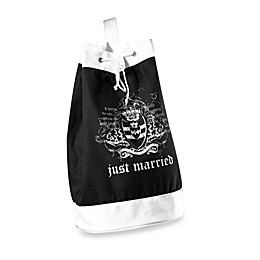 Lillian Rose™ Just Married Beach Bag in Black