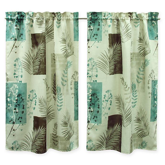 Alternate image 1 for Bacova Taylor Window Curtain Panel Pair in Teal