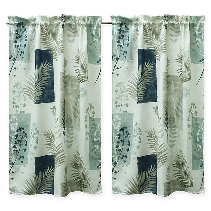 Alternate image 1 for Bacova Taylor Window Curtain Panel Pair in Navy