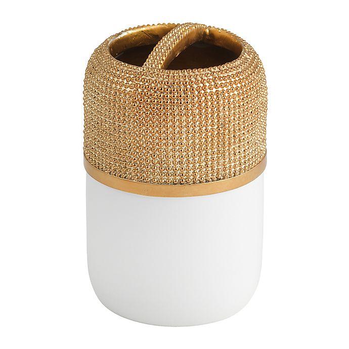 Horizon Gold Toothbrush Holder In White