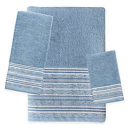 Croscill® Nomad Wastebasket in Blue