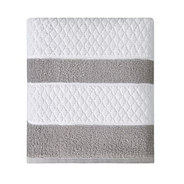 Wamsutta® Hotel Border Bath Towel in Grey