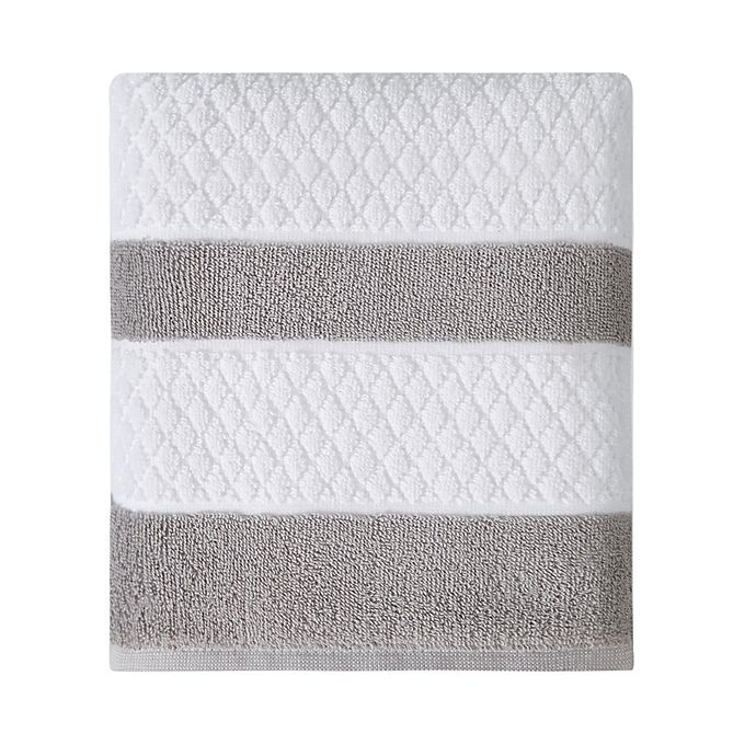 Alternate image 1 for Wamsutta® Hotel Border Bath Towel in Grey