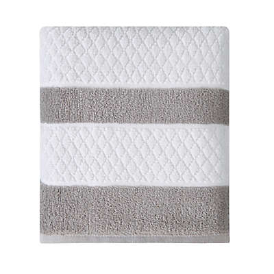 Wamsutta® Merill Bath Towel in Grey
